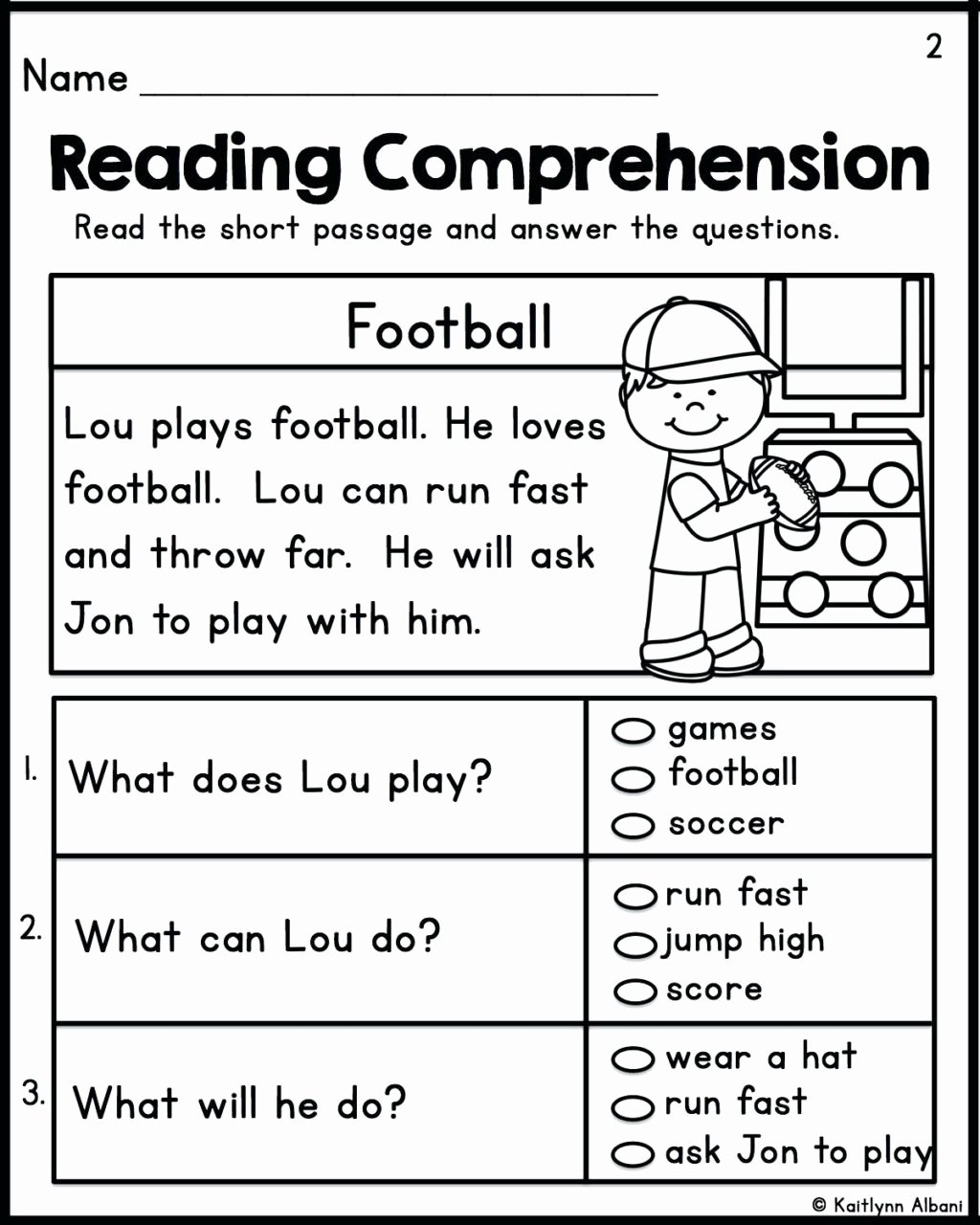 Comprehension Worksheets for Preschoolers Printable Worksheet Worksheet Ideas Excelent Free Second Grade
