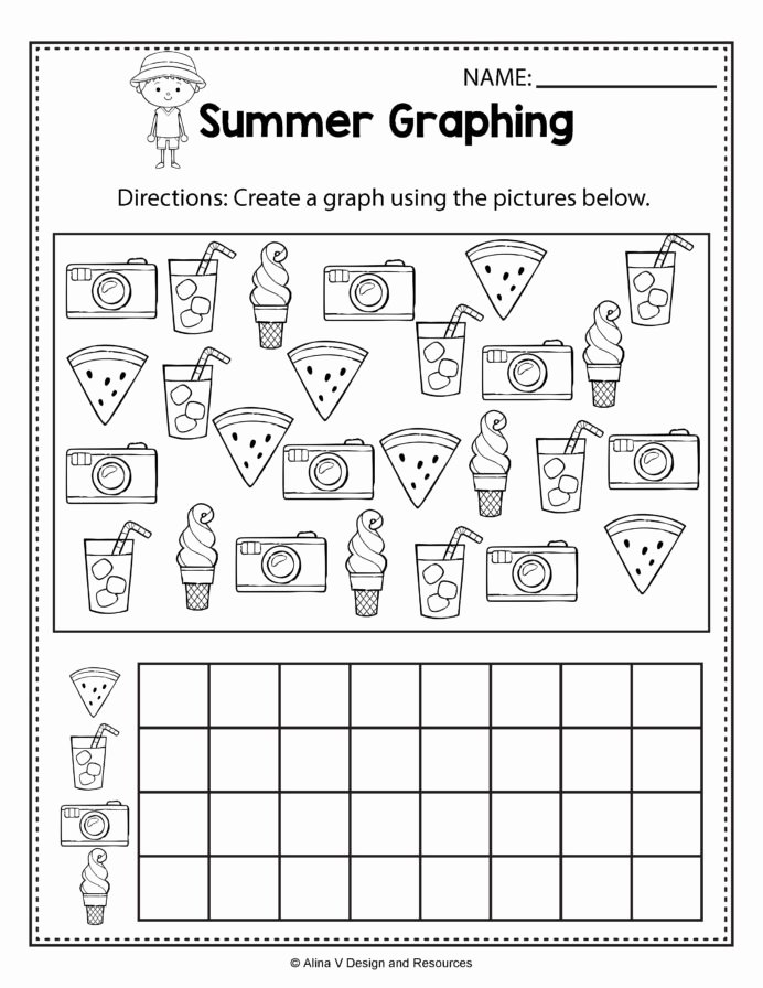 Concept Worksheets for Preschoolers top Summer Graphing Math Worksheets and Activities for