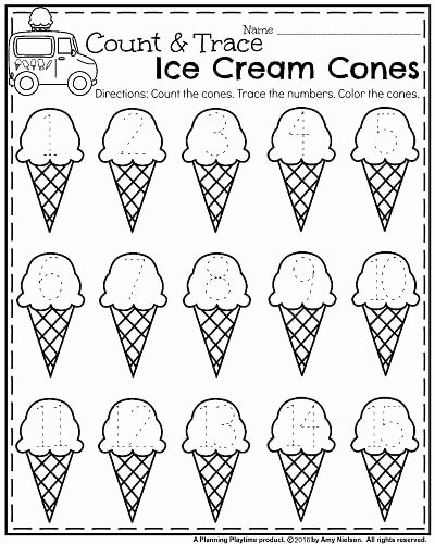Cone Worksheets for Preschoolers Fresh Summer Kindergarten Worksheets