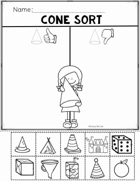 Cone Worksheets for Preschoolers Inspirational Cone Shapes Worksheets