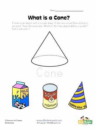 Cone Worksheets for Preschoolers Inspirational Cone Worksheet