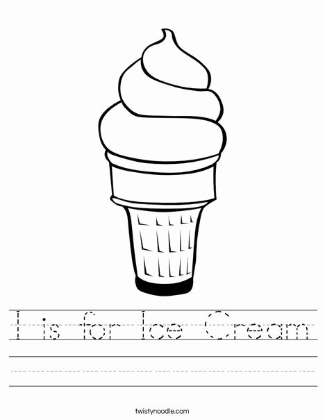 Cone Worksheets for Preschoolers Kids 5 Cool Ice Cream Printables Diy thought Ice Cream Writing