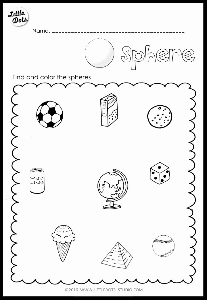 Cone Worksheets for Preschoolers New Kindergarten Math 3d Shapes Worksheets and Activities