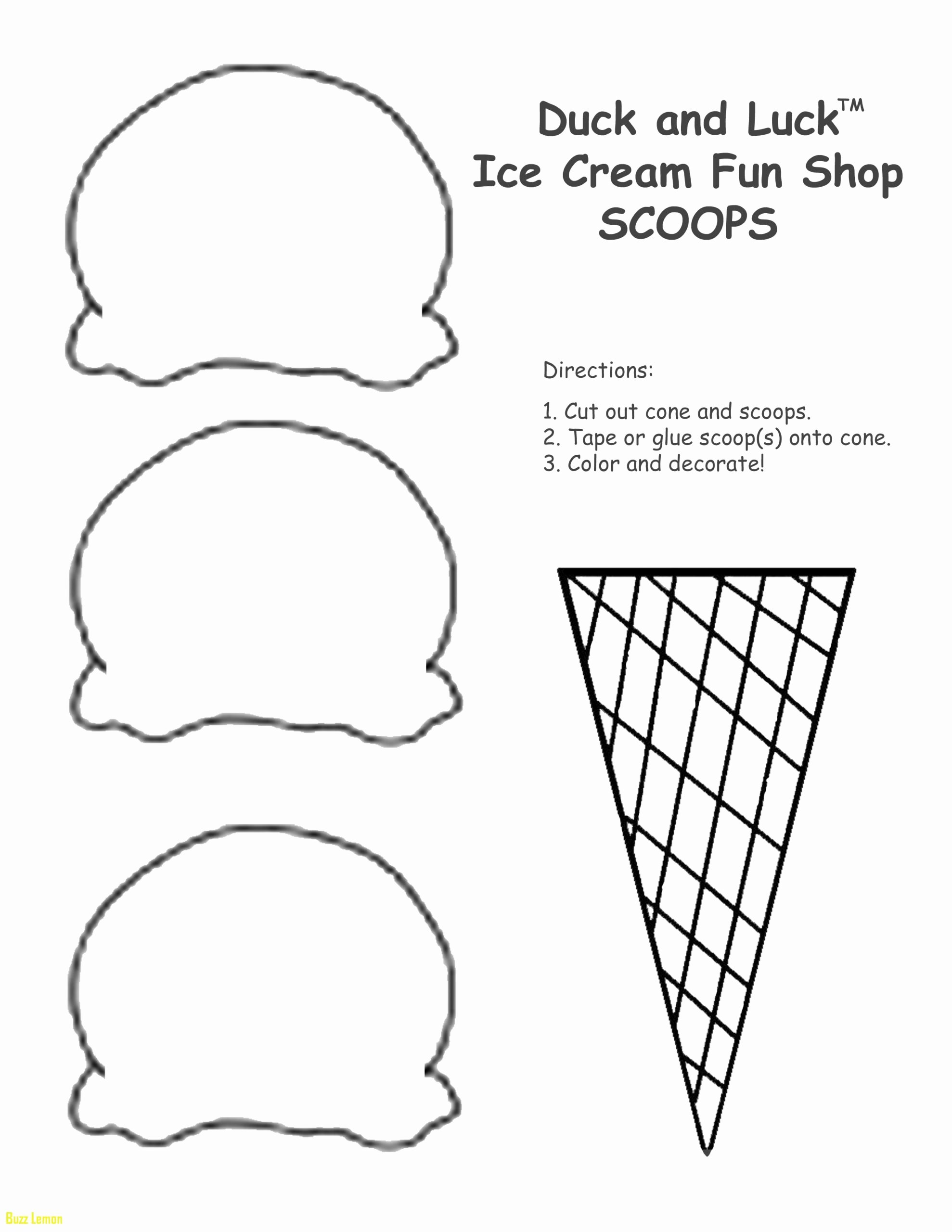 Cone Worksheets for Preschoolers Printable Printable Coloring Ice Cream Cone Free Worksheets to Print
