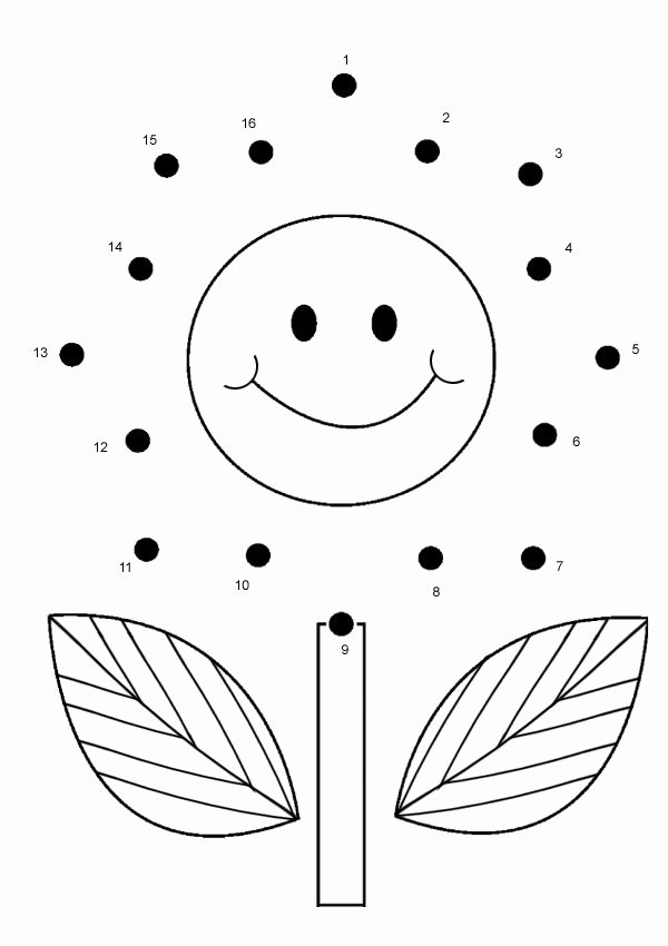 Connecting Dots Worksheets for Preschoolers Inspirational Free Line Printable Kids Games Flower Dot to Dot