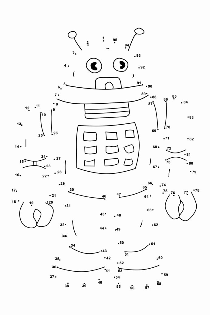 Connecting Dots Worksheets for Preschoolers Kids Connect the Dots Worksheet Preschool Numbers 1 20