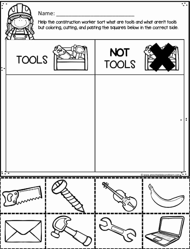 Construction Worksheets for Preschoolers Ideas Free Construction Worksheets In 2020