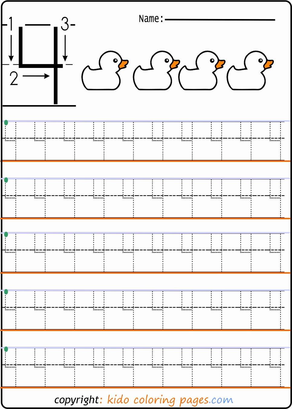 Construction Worksheets for Preschoolers Kids Number Tracing Worksheets for Preschool Kids Coloring Fun