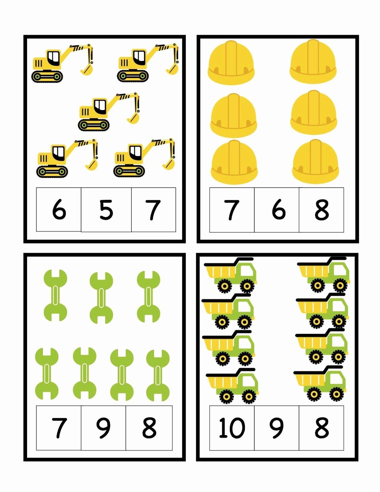 Construction Worksheets for Preschoolers Printable Preschool Printables Construction