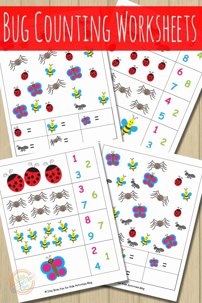 Counting Bugs Worksheets for Preschoolers Fresh Bug Counting Worksheets