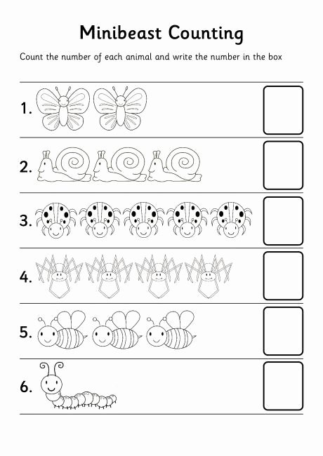 Counting Bugs Worksheets for Preschoolers New Crafts Actvities and Worksheets for Preschool toddler and