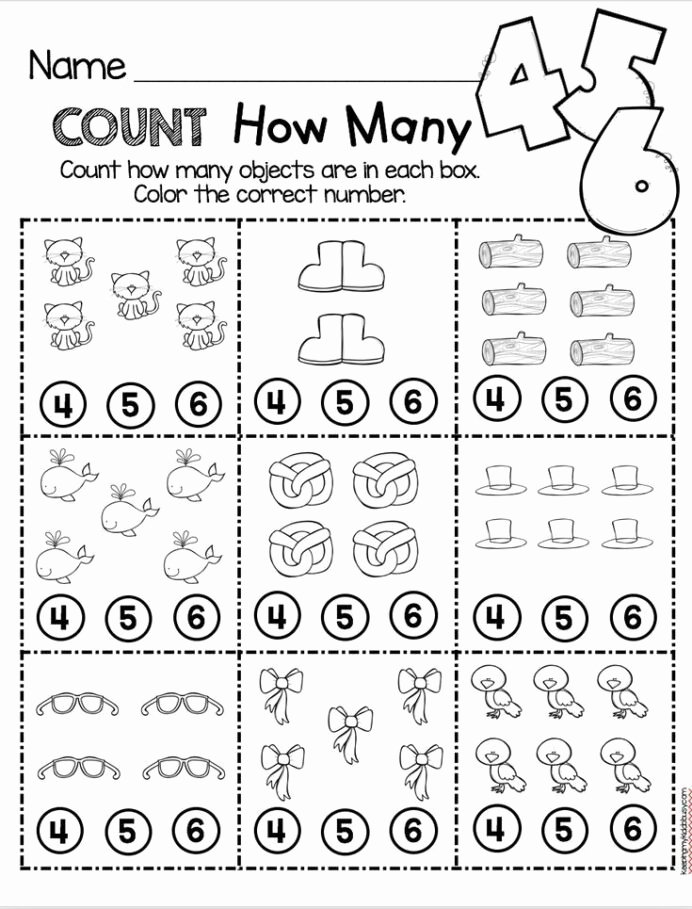 Counting Worksheets for Preschoolers Kids Counting and Cardinality Freebies Preschool Math Worksheets