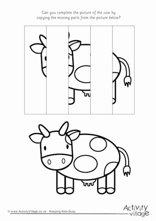 Cow Printable Worksheets for Preschoolers Best Of Cow Printables