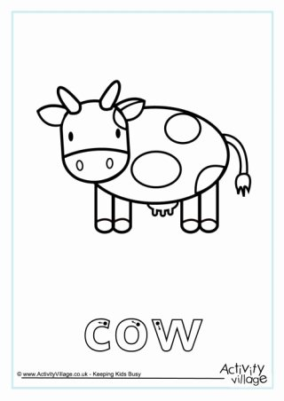 Cow Printable Worksheets for Preschoolers Ideas Cow Printables