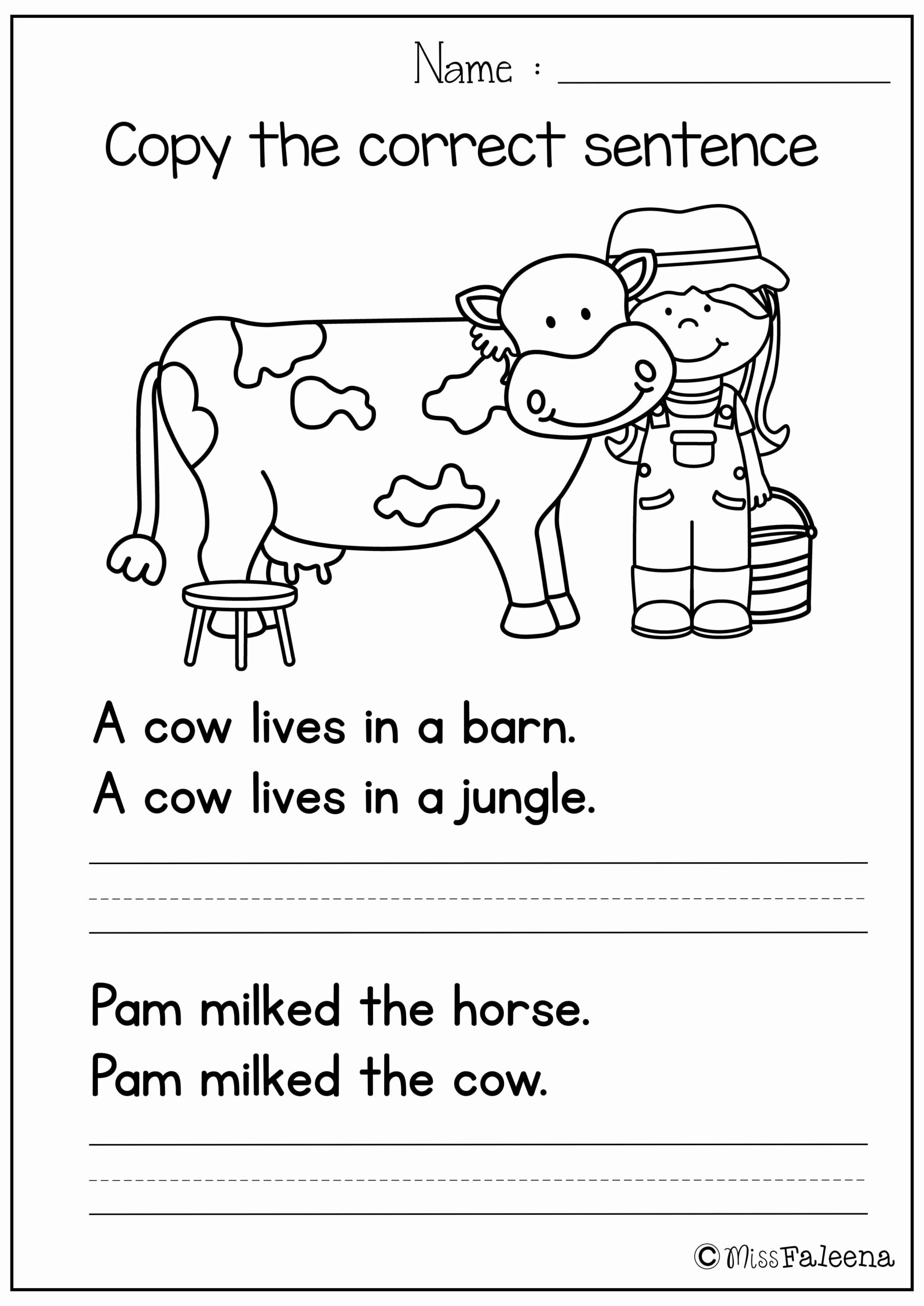 Cow Printable Worksheets for Preschoolers Inspirational Math Worksheet 50 Tremendous 1st Grade Free Printable