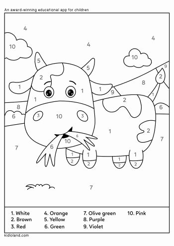 Cow Printable Worksheets for Preschoolers Printable Download Free Color by Number 33 and Educational Activity