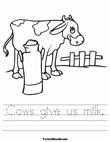 Cow Worksheets for Preschoolers top Cows Give Us Milk Worksheet