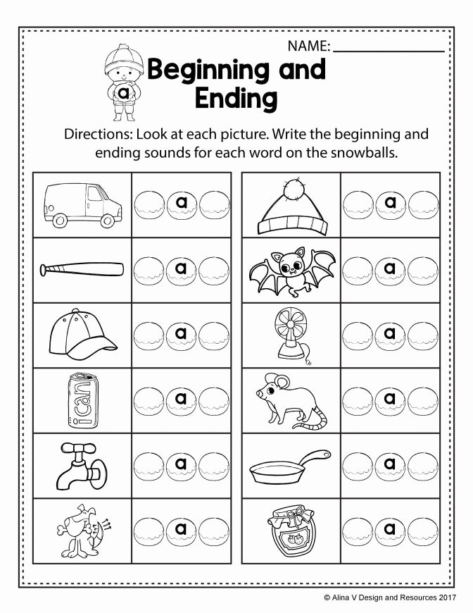 Creative Worksheets for Preschoolers Ideas Free Winter Literacy Worksheet for Kindergarten No Prep