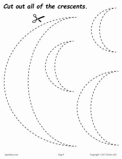 Crescent Shape Worksheets for Preschoolers top Pin On Shapes Worksheets Coloring Pages & Activities