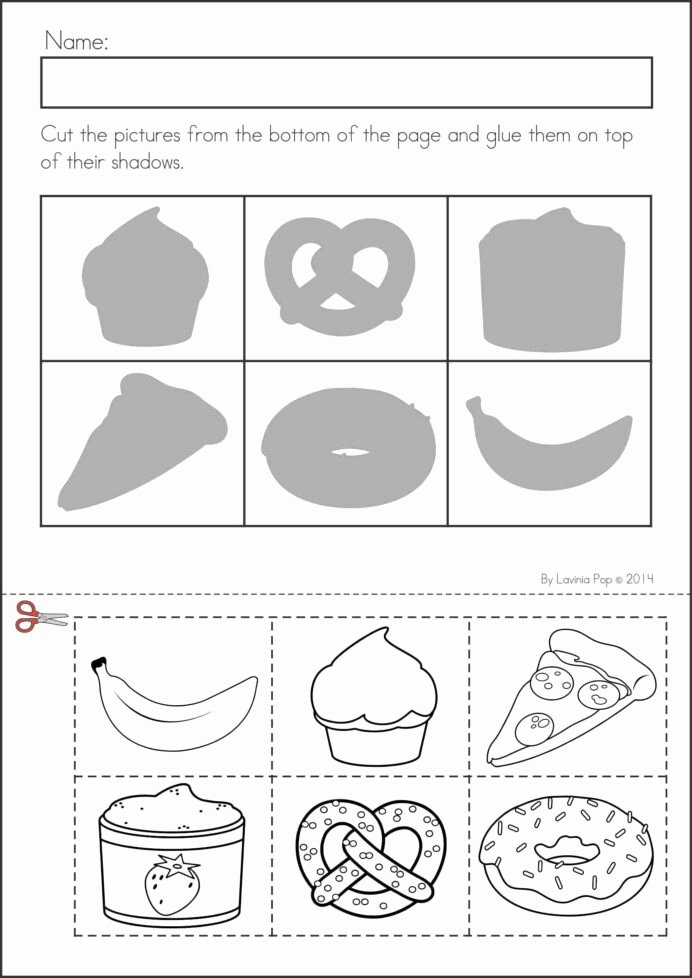 Cutting Practice Worksheets for Preschoolers Lovely Printable Preschool Worksheets Cut and Paste Free Age Basic
