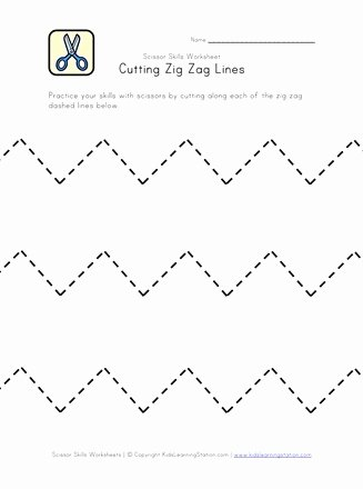 Cutting Practice Worksheets for Preschoolers New Cutting Practice Worksheet Zig Zag Lines