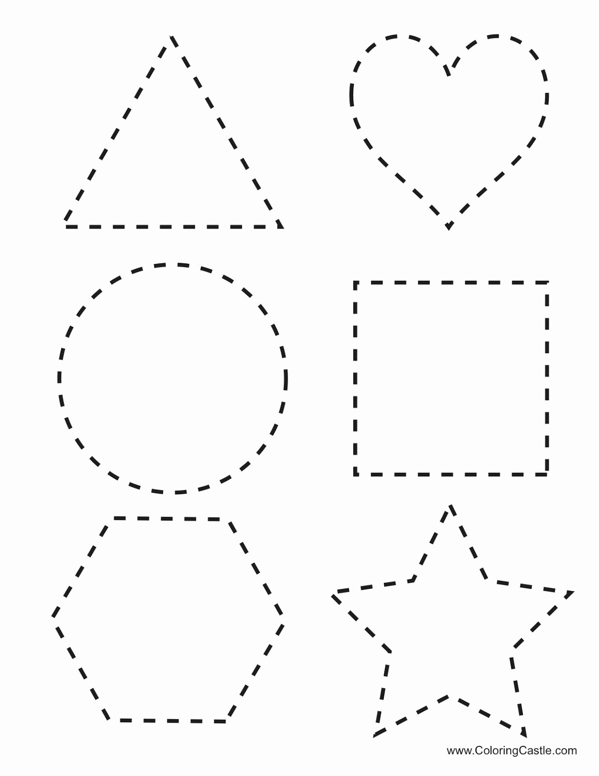 Cutting Shapes Worksheets for Preschoolers Best Of Tracing Shapes Printables