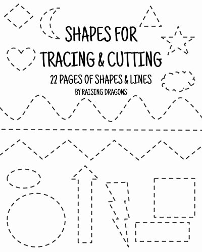 Cutting Shapes Worksheets for Preschoolers Kids Shapes Tracing and Cutting Activity Printable Scissor Skills