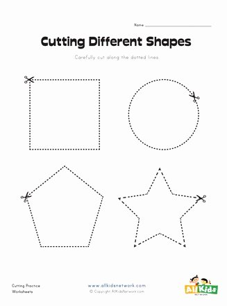 Cutting Shapes Worksheets for Preschoolers top Cutting Shapes Worksheet
