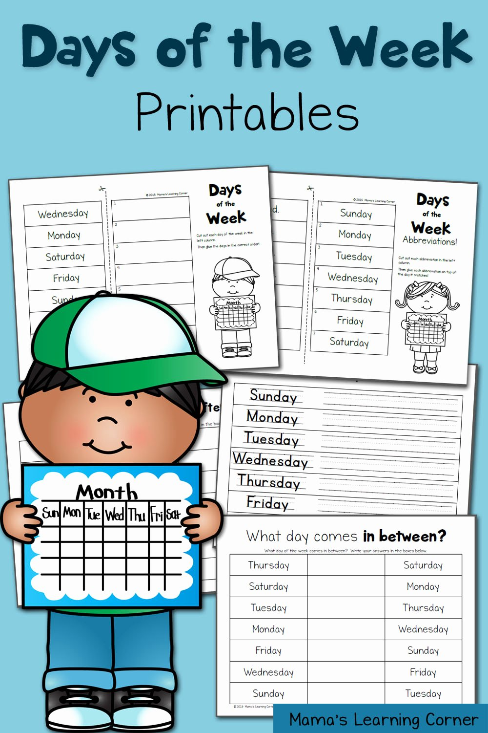 Days Of the Week Worksheets for Preschoolers Free Days Of the Week Worksheets Mamas Learning Corner