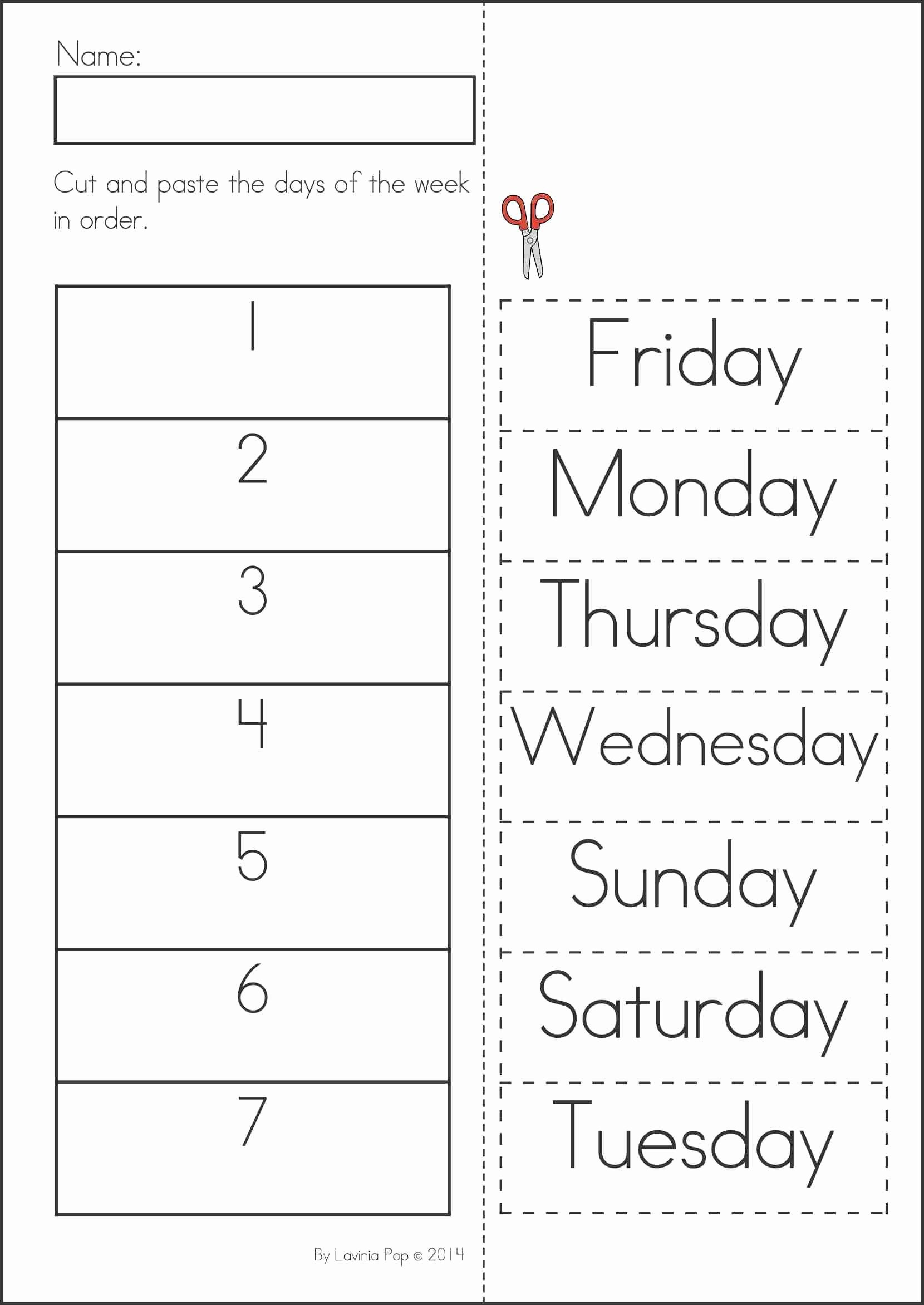 Days Of the Week Worksheets for Preschoolers Inspirational Summer Review Kindergarten Math & Literacy Worksheets