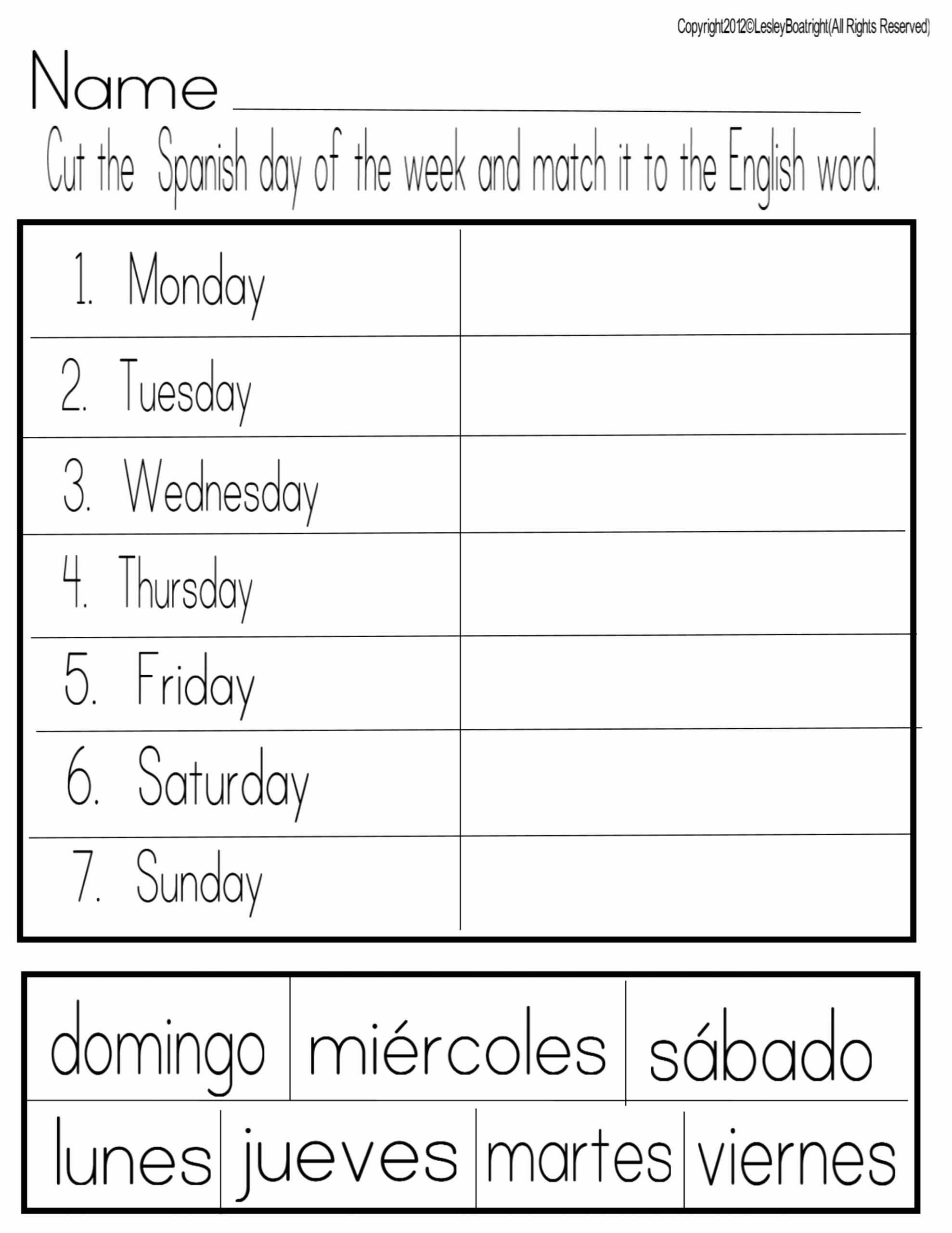 Days Of the Week Worksheets for Preschoolers New Math Worksheet Newsflog Page Days the Week Worksheet