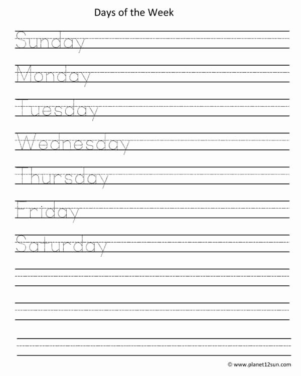 Days Of the Week Worksheets for Preschoolers New Worksheet Days Week Worksheet Awesomeree Printable