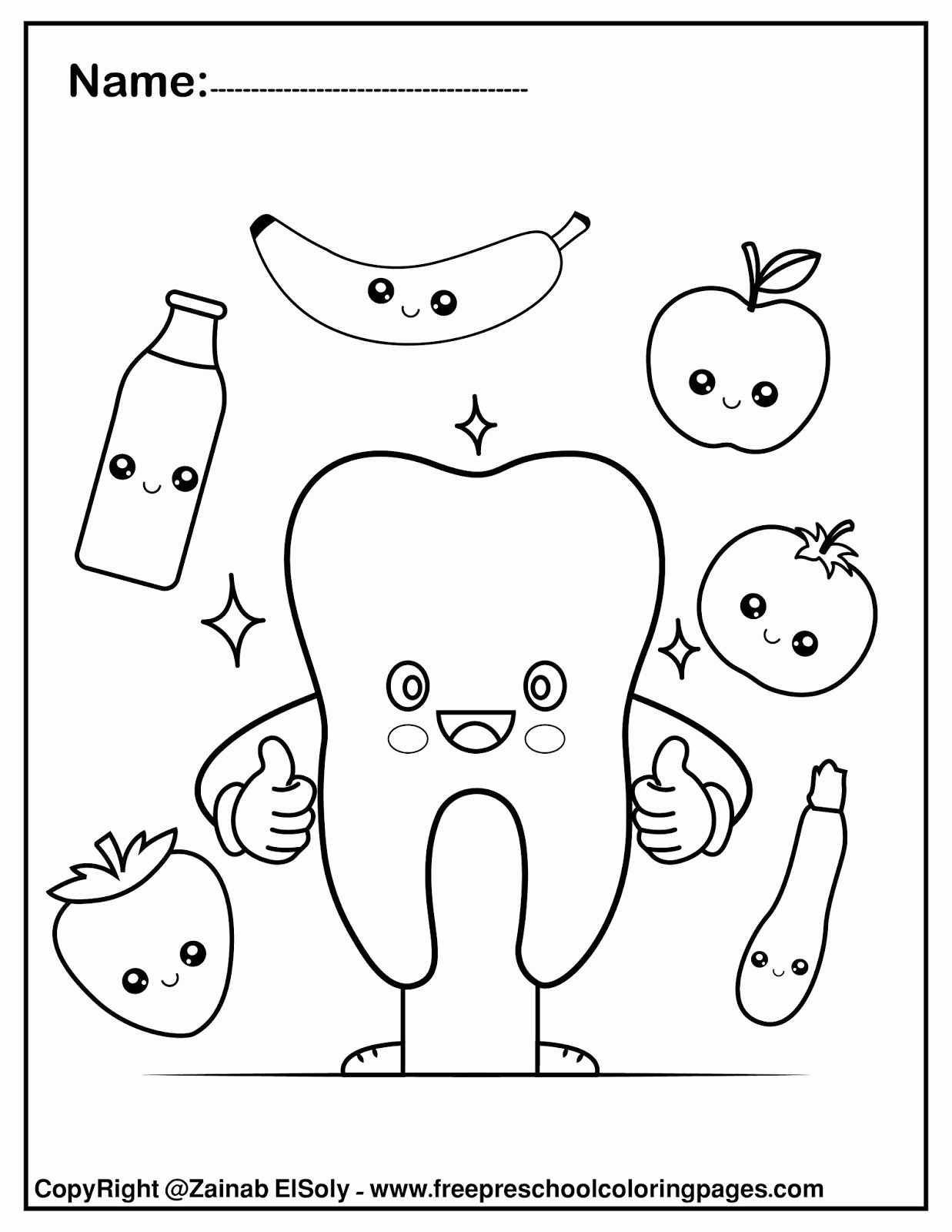 Dental Worksheets for Preschoolers Inspirational Set Free Dental Care Coloring for Kids Hygiene Worksheets