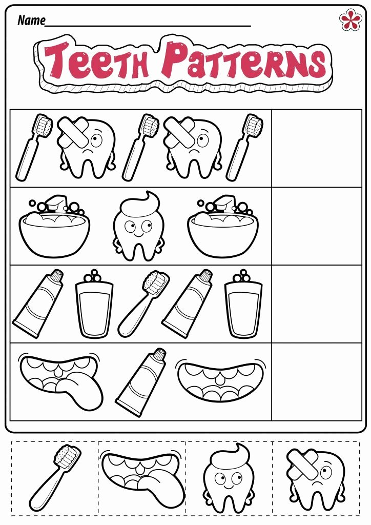 Dental Worksheets for Preschoolers Kids Dental Health Worksheets for Preschool and Kindergarten