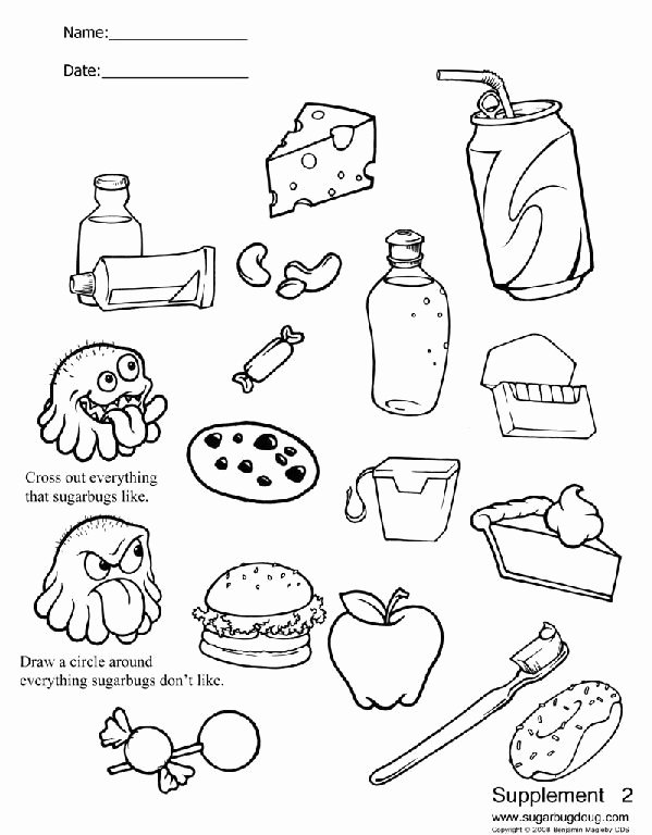 Dental Worksheets for Preschoolers New Dental Coloring Pages