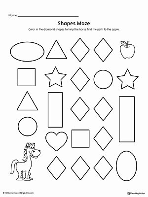 Diamond Worksheets for Preschoolers New Diamond Shape Maze Printable Worksheet
