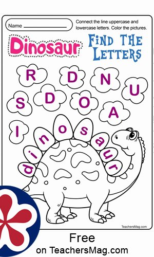 Dinosaur Worksheets for Preschoolers Free Free Dinosaur Printables for Preschool Teachersmag