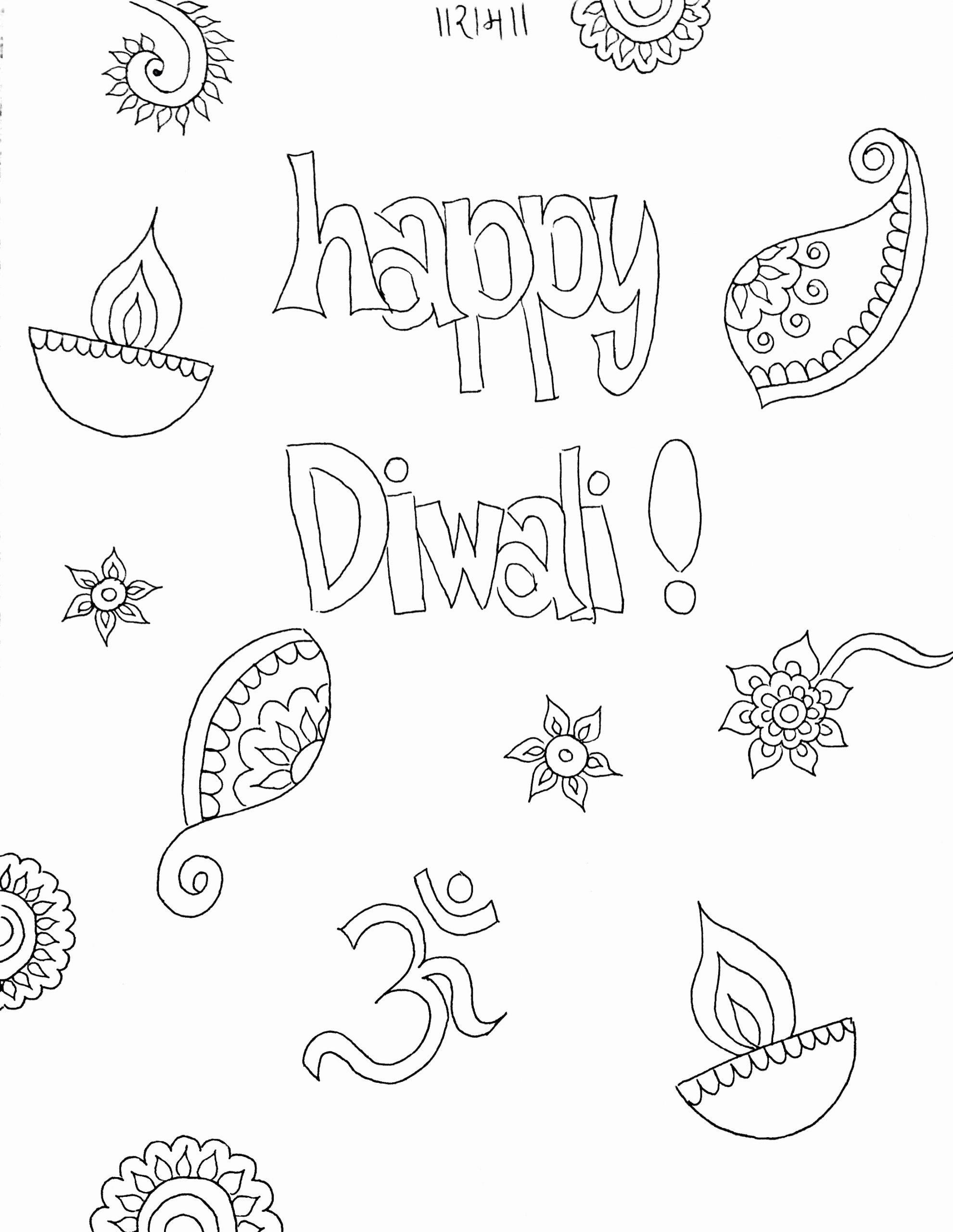 Diwali Worksheets for Preschoolers Ideas Diwali Coloring Sheet for Kids