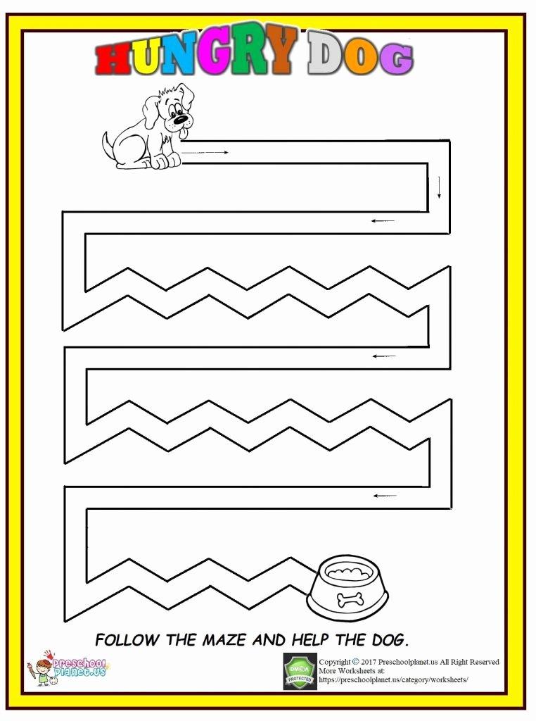 Dog Worksheets for Preschoolers Best Of Dog Maze Worksheet – Preschoolplanet