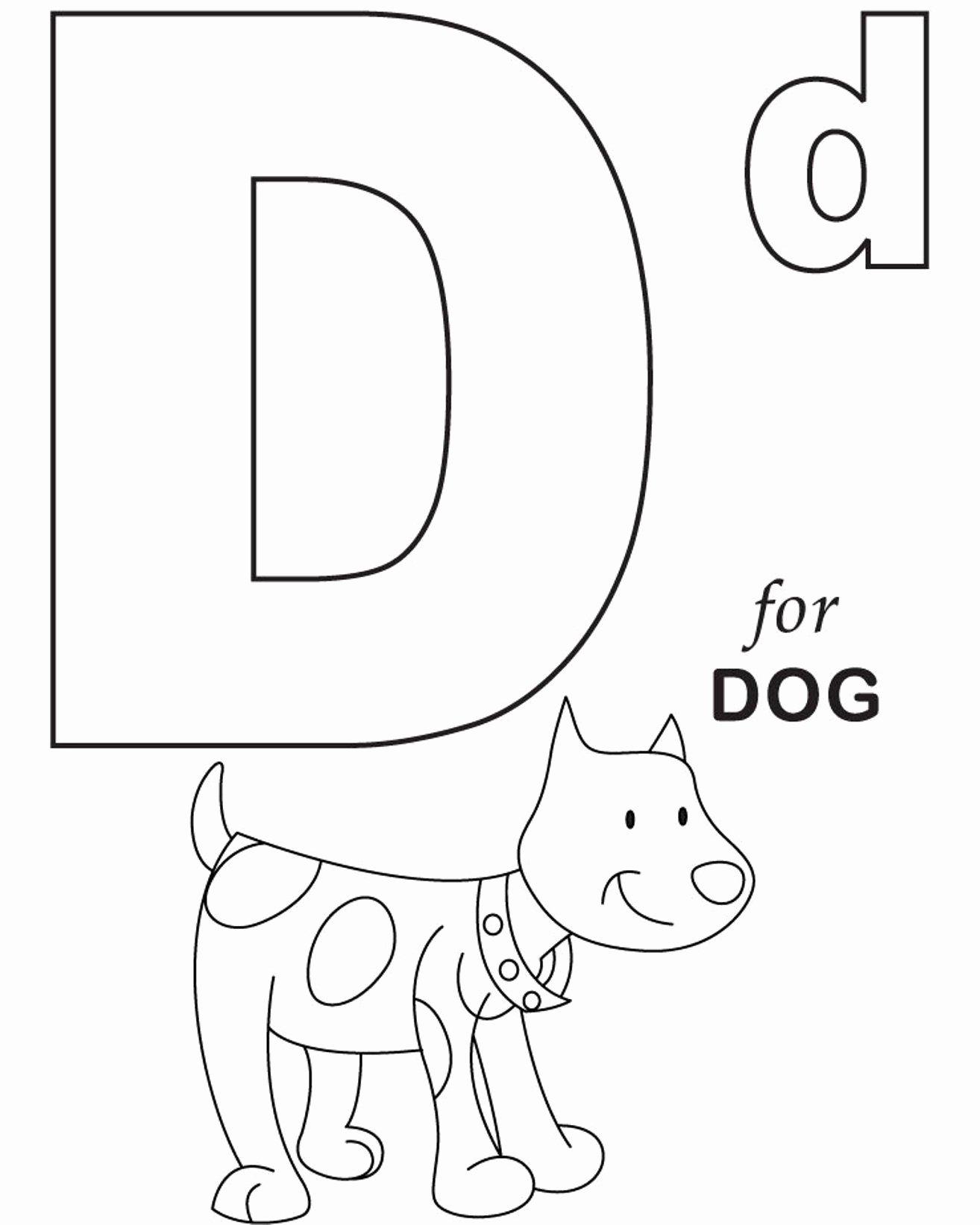 Dog Worksheets for Preschoolers Best Of Worksheets Alphabet Coloring for Dog Printable Tracing the