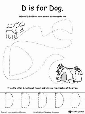 Dog Worksheets for Preschoolers Ideas the Letter D is for Dog