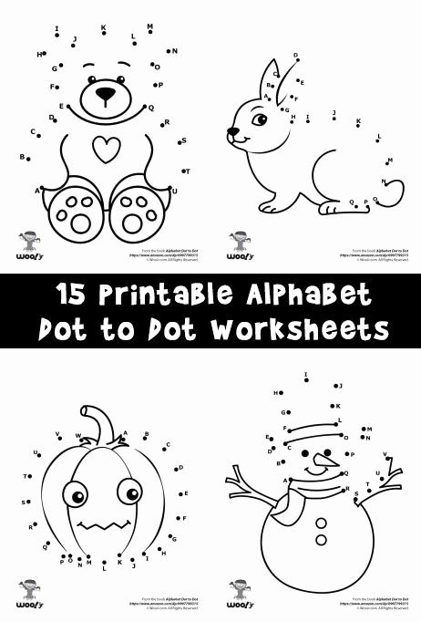 Dot to Dot Worksheets for Preschoolers Ideas Printable Alphabet Dot to Dot Worksheets