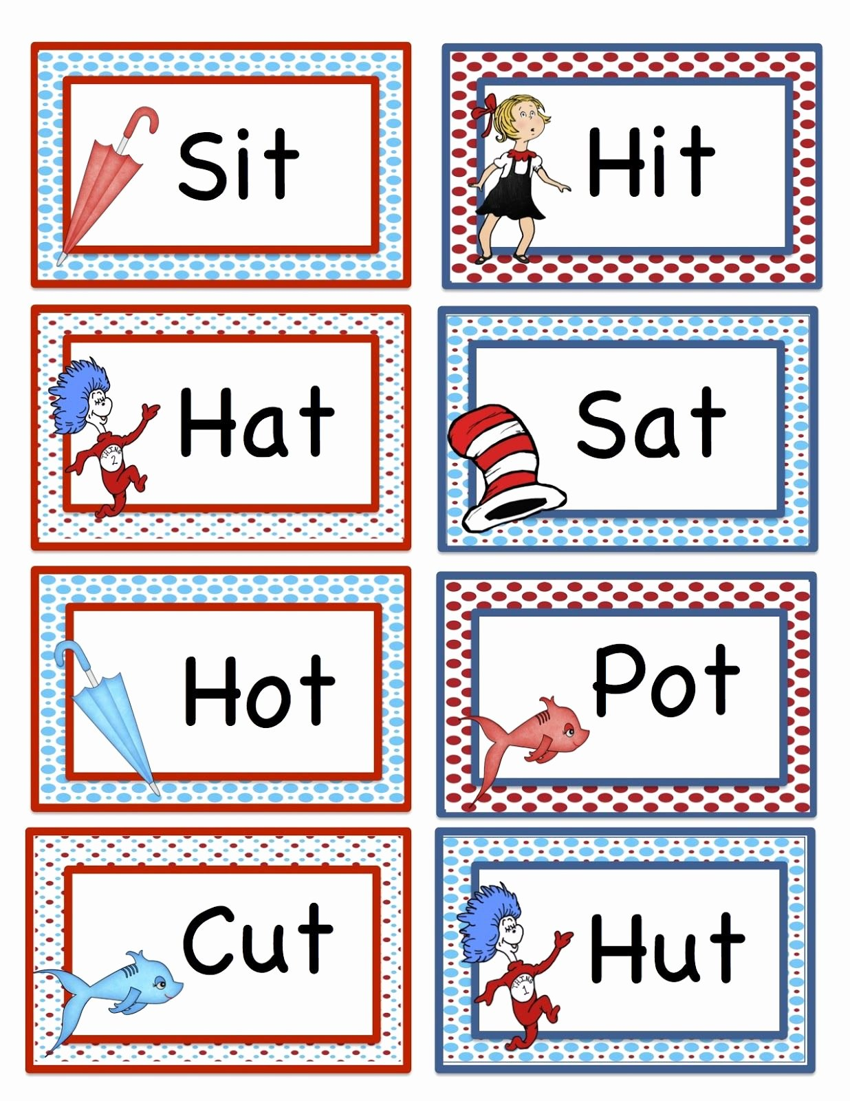 Dr Seuss Worksheets for Preschoolers New Dr Seuss Printables for Preschoolers Characters List