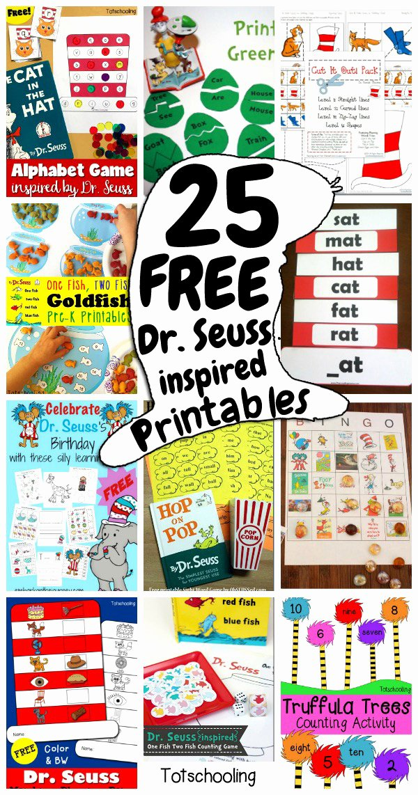 Dr Seuss Worksheets for Preschoolers top 25 Free Dr Seuss Inspired Printables for Kids