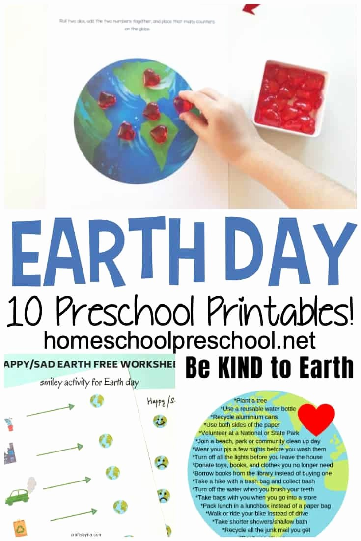 Earth Day Worksheets for Preschoolers Kids A Great Collection Of Earth Day Worksheets for Preschoolers