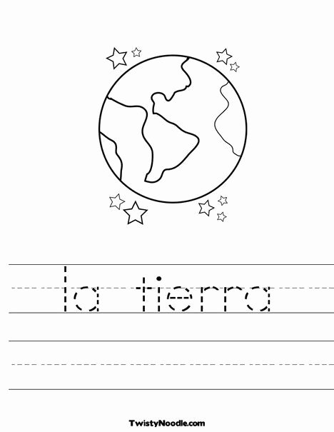 Earth Worksheets for Preschoolers Kids La Tierra Worksheet