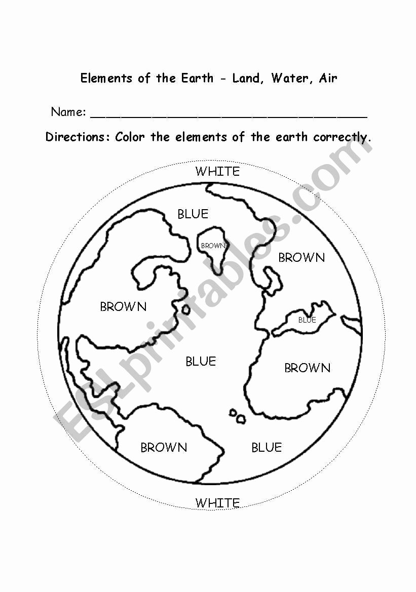 Earth Worksheets for Preschoolers Lovely Worksheet Position the Earth Preschool Eslrksheet by