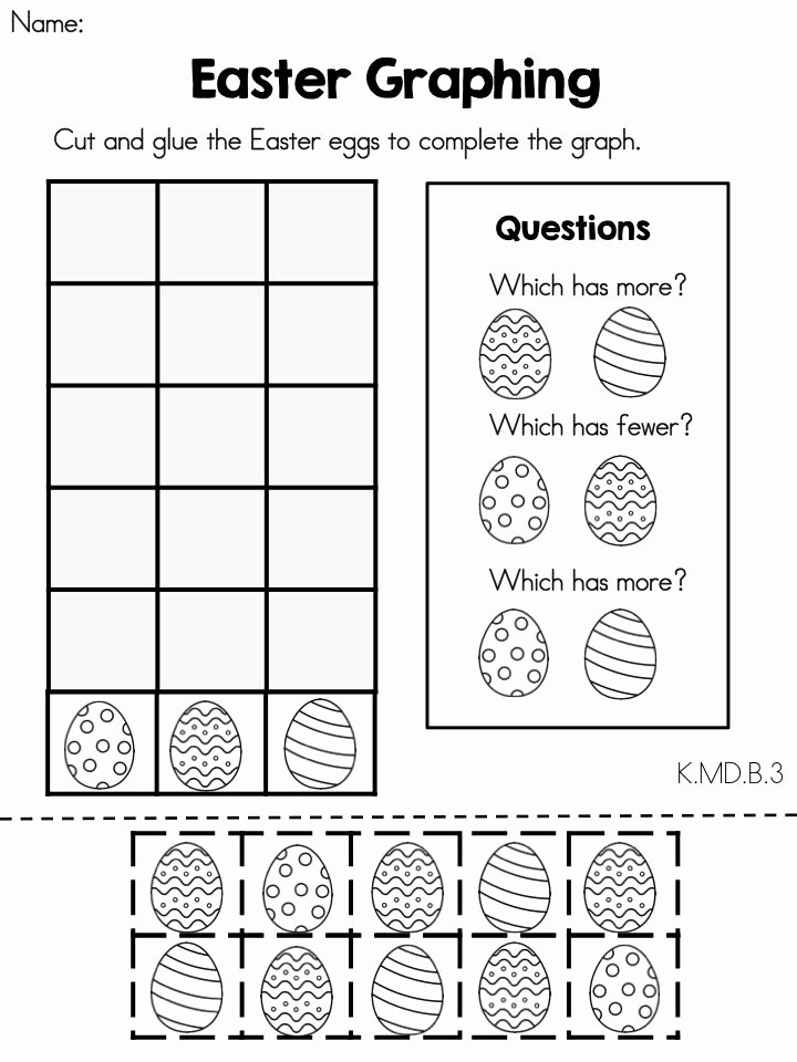 Easter Math Worksheets for Preschoolers Free Easter Math Worksheets Kindergarten Distance Learning