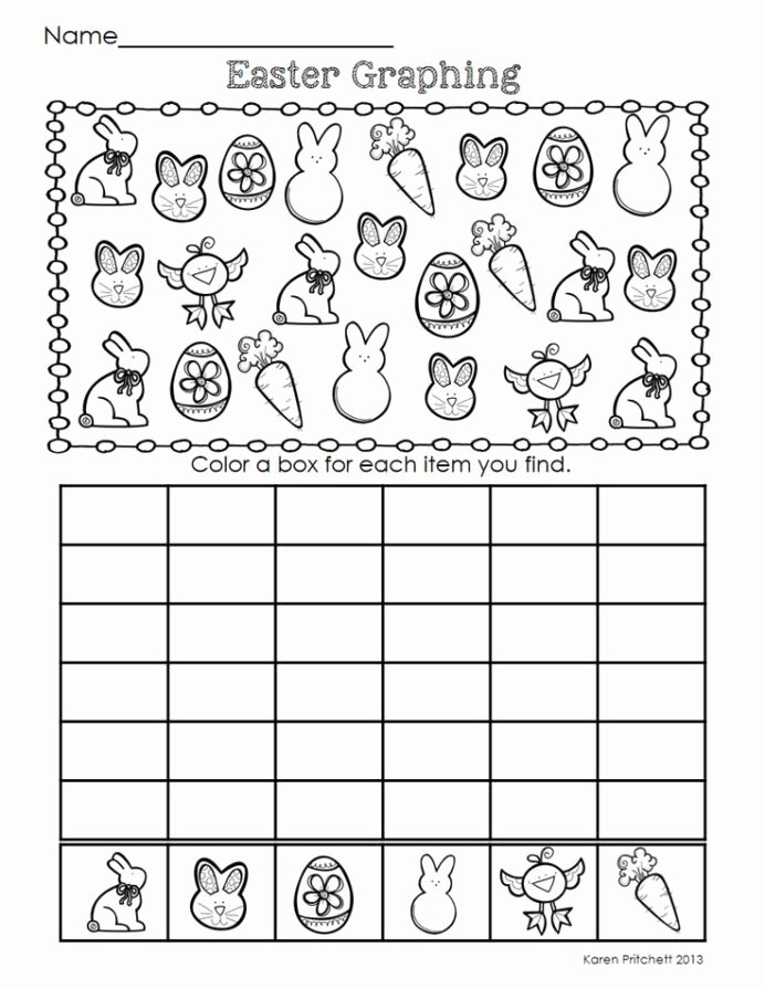 Easter Math Worksheets for Preschoolers Free Graph Worksheet for Kids Easter Math Spring themed