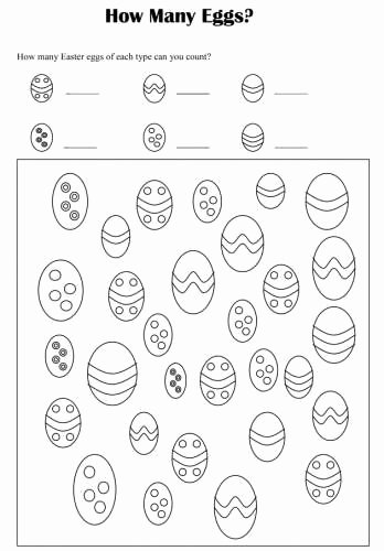 Easter Math Worksheets for Preschoolers Lovely Easter Math Worksheets for Kids 3 Görüntüler Ile